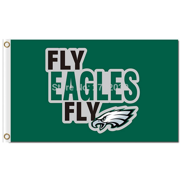 Fly Philadelphia Eagles Flag 3ftx5ft World Series Football Team Fly Eagles Banner Flag Custom Sport Philadelphia Eagles Banner