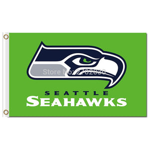 Seattle 3ft X 5ft Background Polyester NF*L Seattle Banner Flag World Series Football Team Green Super Champions