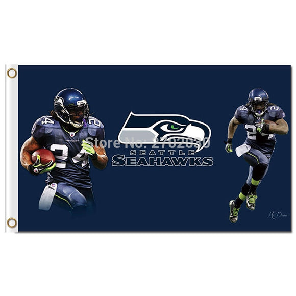 Football Team Seattle Flag 3ft X 5ft Banner Custom Flag Green World Series Football Premium Team Seattle Banner Flag