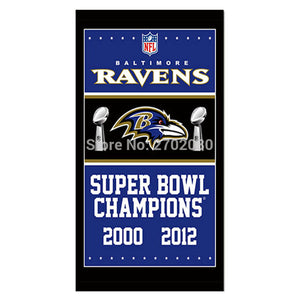 Handing Decoration Baltimore Ravens Flag Football Team Super Bowl Champions 3ft X 5ft 100D Polyester Printed Banner 2000 2012