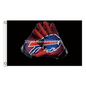 Gloves Design Buffalo Bills Flag Team Colors Super Bowl Champions 3 X 5ft Banner Custom Bills Flags Banner Stand Colours