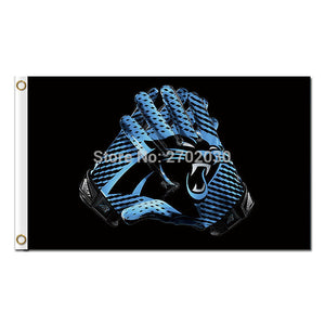 Keep Pounding Gloves Carolina Panthers Design Flag Football Team 3ft X 5ft Banners Super Bowl Champions Carolina Panthers Banner