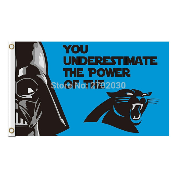 You Underestimate The Power Carolina Panthers Flag Football Team 3ft X 5ft Banner Super Bowl Champions Carolina Panthers Banner