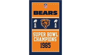1985 Chicago Bears Flag Banners Football Team Flags 3x5 Ft Super Bowl Champions Banner 90x150cm