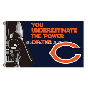You Underestimate The Power Of The Chicago Bears Flag Banners Football Team Flags 3x5 Ft Super Bowl Champions Banner Bear
