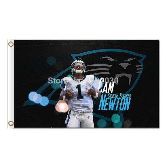 1 cam newton Carolina Panthers Flag Football Team 3ft X 5ft Banner World Series Super Bowl Champions Custom Flag