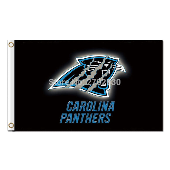 Black Design Carolina Panthers Flag Football Team 3ft X 5ft Banner World Series Super Bowl Champions Custom Flag Country