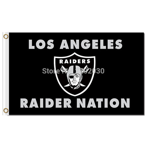 Supper Oakland Raiders LOS ANGELES RAIDER NATION Team Banner 100D Polyester The Rest Flag Costom Oakland Raiders Flag US 006