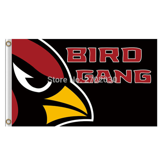 Arizona Cardinals Flag BIRD GANG Banner World Series Football Team 3ft X 5ft Red Arizona Cardinals Banner Flag