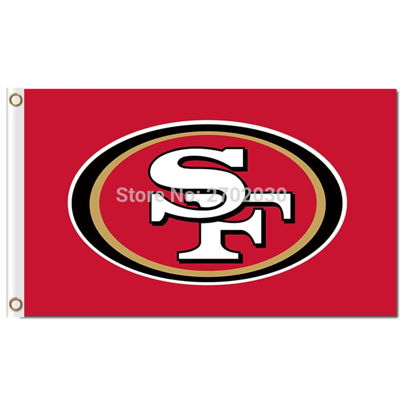 San Francisco 49ers Skyline Large Outdoor Banner Flag 3 X 5ft 2 Metal Grommets World Series Cubs Flag San Francisco 49ers SF