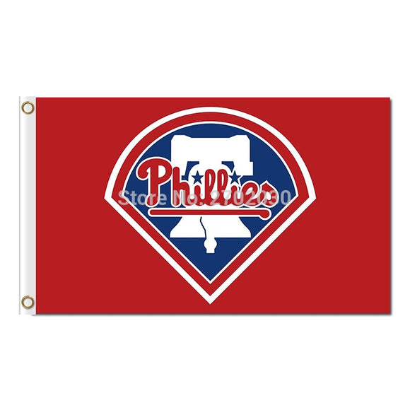 RED BLUE Philadelphia Phillies Flag Baseball World Series Champions Super Fans Team Flags Banner 3x5 Ft Banners 100D Polyester