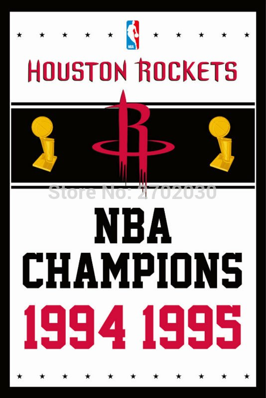 Houston Rockets Basketball Team 90*150cm Flag Banners Home Decoration 100D Polyester 3*5ft with Metal Gromets Sleeve