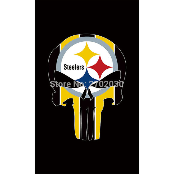 Black Pittsburgh Steelers Flag Hanging Banner Flag World Series Football Team 3ft X 5ft Decoration Pittsburgh Steelers Banner