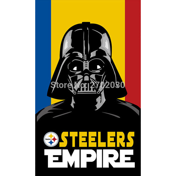 Steelers EMPIRE Flag Pittsburgh Steelers Super Bowl Champions Banner Hanging Decoration World Series Football Team 3 X 5ft Flag
