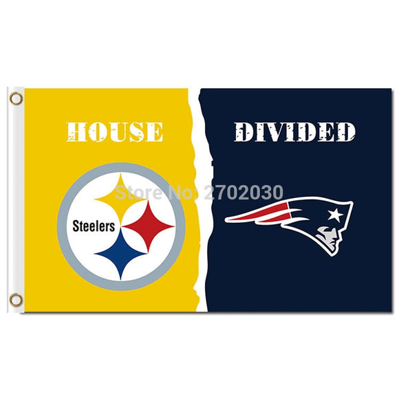 Pittsburgh Steelers Flag Vs New England Patriots Banner World Series Football Team 3ft X 5ft Steelers And Patriots Banner Flag