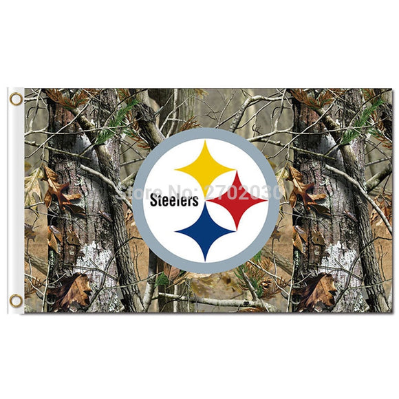 Jungle Camouflage Pittsburgh Steelers Flag Champions World Series Football Team 3ft X 5ft Jungle Camouflage Banner Flag
