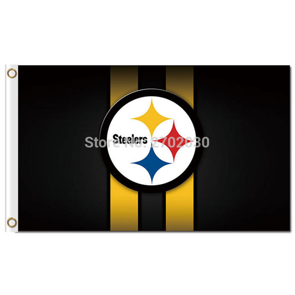 Pittsburgh Steelers Column Flag 3ft X 5ft Polyester NF*L Pittsburgh Steelers Banner Flying Size World Series Custom Flag
