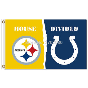 Pittsburgh Steelers Flag Vs Indianapolis Colts Banner World Series Football Team 3ft X 5ft Steelers And Colts Banner Flag