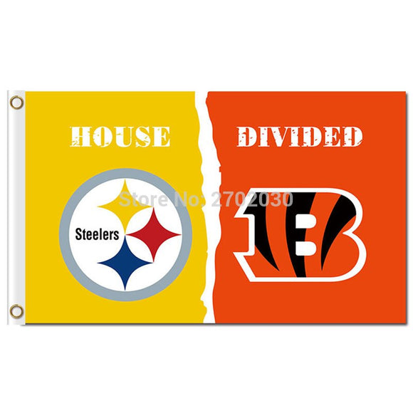 Pittsburgh Steelers Flag Vs Cinnati Bengals Banner World Series Football Team 3ft X 5ft Steelers And Bengals Banner Flag House