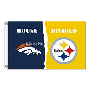 Denver Broncos Banner Vs Pittsburgh Steelers Flag World Series Super Champions Fan Broncos And Steelers Banner Flag