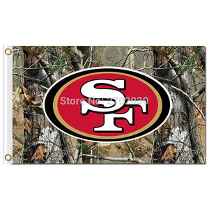 San Francisco 49ERS Flag 3ft X 5ft Banner 100D Polyester Flag San Francisco 49ers Flag All Styles 90x150cm Polyester Football
