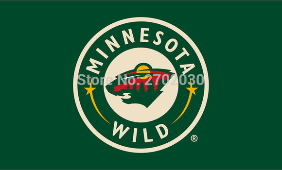 Minnesota Wild National Ice Hockey Sports Team 3ft X 5ft Custom Banners Flags With Sleeve Gromets 90*150CM