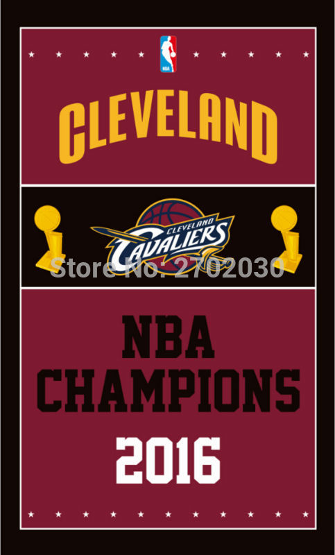 Cleveland Cavaliers Basketball Team 90*150cm Champion Flag Banners Home Deco 100D Polyester Flag with Metal Gromets Sleeve