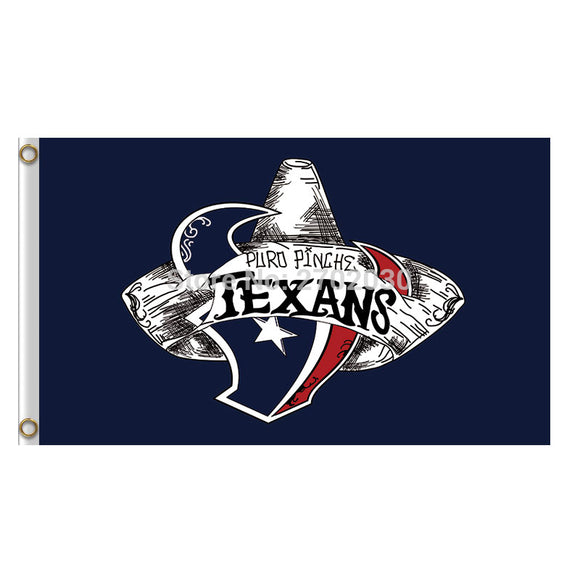 Houston Texans Flag Banners Football Sport Team Flags 3x5 Ft Super Bowl Champions Banner 100D Polyester Texan