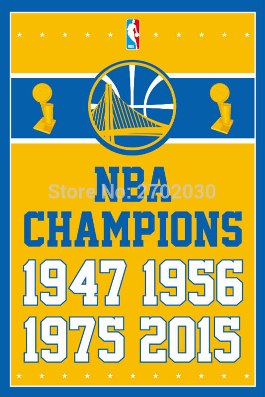 Golden State Warriors Basketball Team 90*150cm Champion Flag Banners Home Deco 100D Polyester Flag