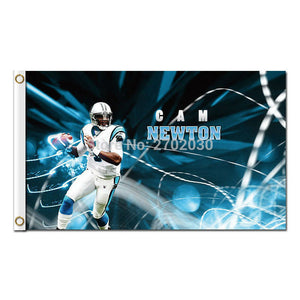 Cam Newton Carolina Panthers Flag Football 3ftx 5ft Banners Super Bowl Champions Banner Polyester Panther Banner