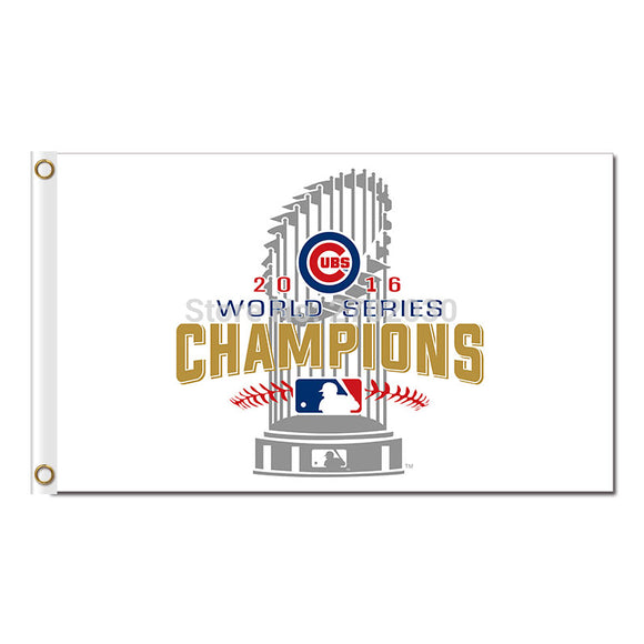 Chicago Cubs Team W Flag Banner 3x5FT Circle Logo Flag Deluxe 2016 Baseball Champions Peign National Postseason Chicago Cubs