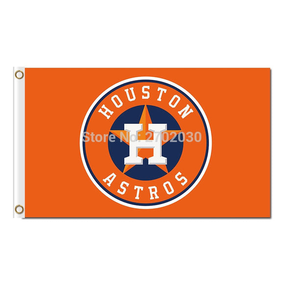 H Design Houston Astros Flag Baseball Super Fan Team Banners Major League Flags World Series Champions Banner Orange Blue Star