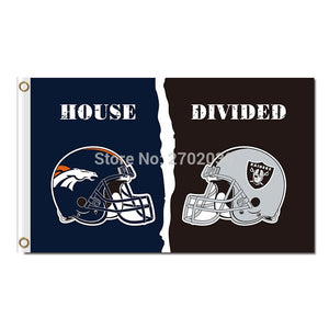 Denver Broncos Flag Vs Oakland Raiders Banner World Series Super Bowl Champions Fan Broncos And Oakland Raiders Banner Flag