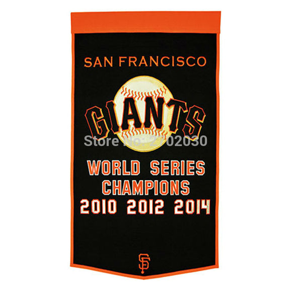 Man Cave Francisco Giants Flag World Series Champions Baseball Cub Fan Team Flags Banner 3x5 Ft Banners 2010 2012 2014