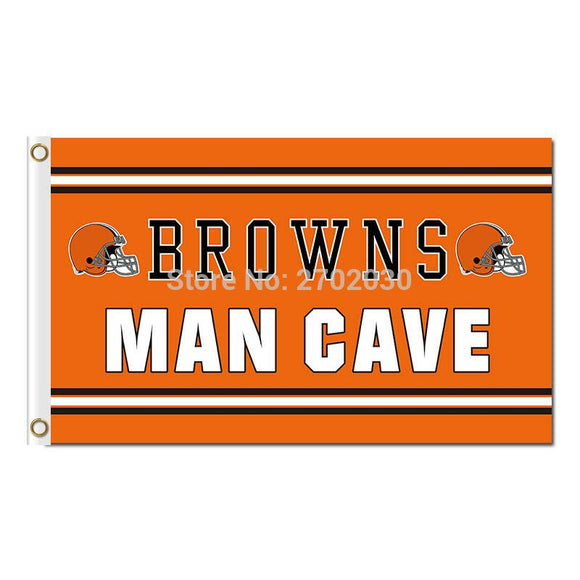 Man Cave Cleveland Browns Flag Football Sport Team Super Bowl Champions World Series Football Fan 90 X 150 Cm Banner