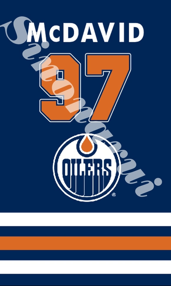 Edmonton Oilers Ice Hockey Sports 57 Mcdavid Star Flags 3ft X 5ft Custom Banners With Sleeve Gromets 90*150CM