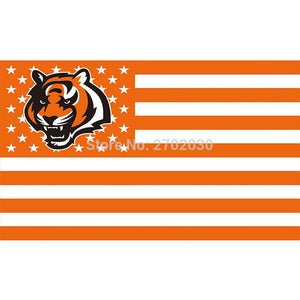 Orange Strip Us Usa Country Cincinnati Bengals Flag Super Bowl Champions Football Team Fan 3ft X 5ft Banner 100D Polyester
