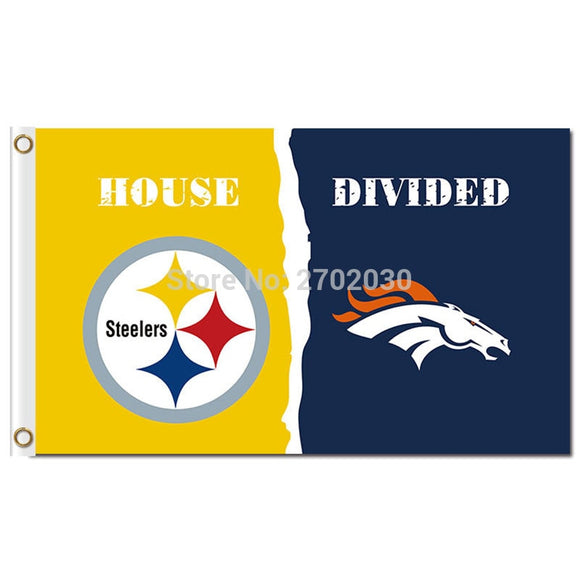 Pittsburgh Steelers Flag Vs Denver Broncos Banner World Series Football Team 3ft X 5ft Steelers And Broncos Banner Flag
