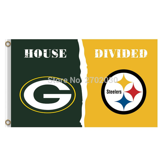 Green Bay Packers Flag Vs Pittsburgh Steelers Banners Sport Football Team Flags 3x5 Ft Super Bowl Champions Banner 90 X 150 Cm