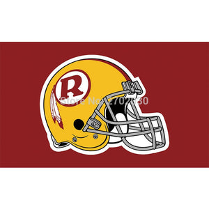 Red Yellow Helmet R Design Washington Redskins Flag Football Team Flags Super Bowl Champions Banner Fans 90 X 150 Cm Banners