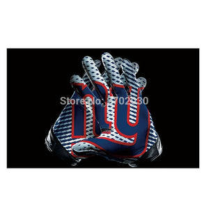Gloves Design New York Giants Flag Banners Football Team Flags 3x5 Ft Super Bowl World Champions Banner Decoration Polyester