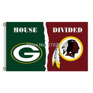 Green Bay Packers Flag Vs Washington Redskins Banners Sport Football Team Flags 3x5 Ft Super Bowl Champions Banner 90 X 150 Cm