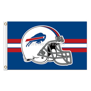 Helmet Buffalo Bills Mafia Flag Football Team Super Bowl Champions 3ft X 5ft 100D Polyester Printed Blue Red Banner