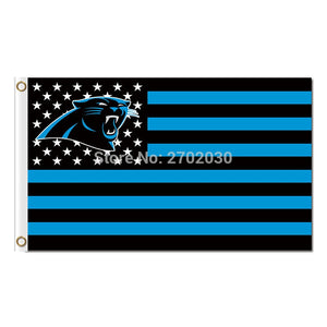 Carolina Panthers LOGO Flag US Country USA Football Team 90 X 150 CM Banner World Series Super Bowl Champions Custom Flag