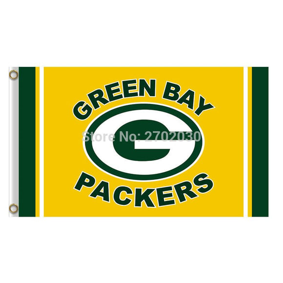 yellow Design Green Bay Packers Flag Banners Sport Football Team Flags 3x5 Ft Super Bowl Champions Banner