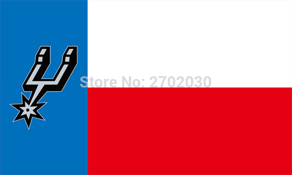 The San Antonio Spurs White And Red Stripe flag 3FTx5FT 150X90CM Banner 100D Polyester Flag