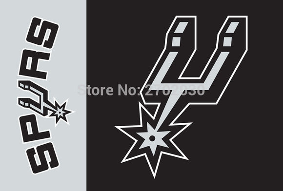San Antonio Spurs Big Logo Patchwork Basketball Flag 3FTx5FT 150X90CM Banner 100D Polyester flag