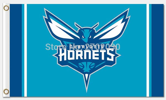 Charlotte Hornets Flag basketball Team Star and Strip Flag Banners US 90*150cm Banner  Team 100D Polyester Hanging Decoration