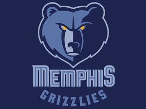 New Arrival Memphis Grizzlies Basketball Team 90*150cm Sports Fan Flag Banners 100D Polyester With Metal Gromets White Sleeve