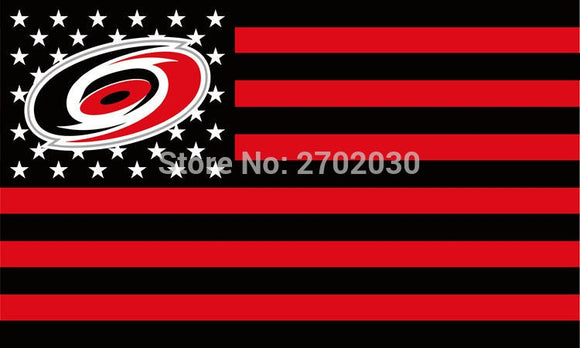 Carolina Hurricanes  Ice Hockey Sports Team Star And Stripe National Flag 3ft X 5ft Custom Banner With Sleeve Gromets 90*150CM